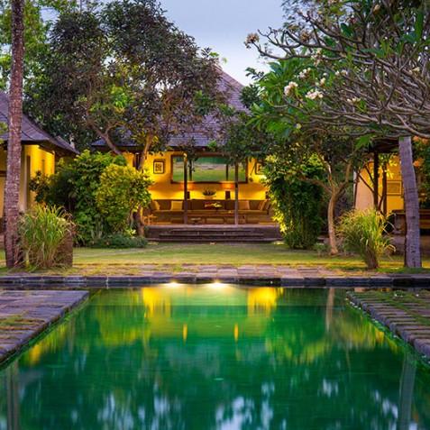Villa Belong Dua - Seseh-Tanah Lot, Bali - Villa at Dusk