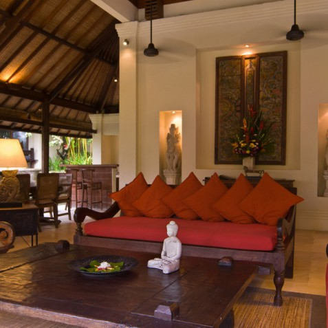 Villa Bougainvillea Bali - Dining, Living Area and Bar - Canggu, Bali