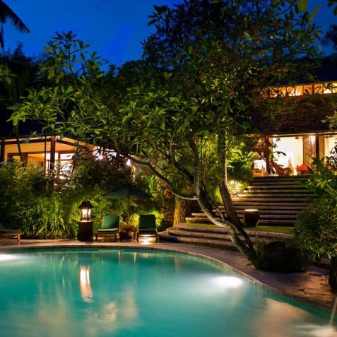Villa Bougainvillea Bali - Villa at Night - Canggu, Bali