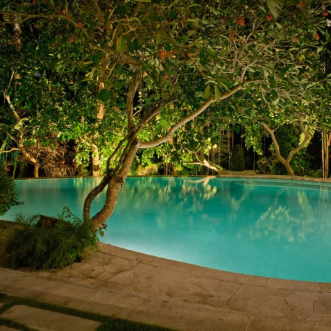 Villa Bougainvillea Bali - Pool at Night - Canggu, Bali
