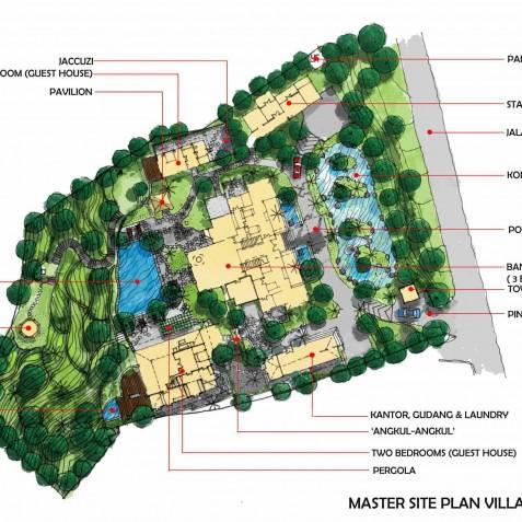 Villa Bukit Naga Bali - Floor Plan - Ubud, Bali, Indonesia