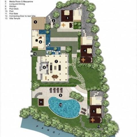 Villa Bunga Wangi Bali - Floor Plan - Canggu, Bali