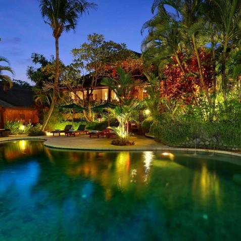 Villa Bunga Wangi Bali - Pool at Night - Canggu, Bali
