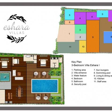 Villa Eshara I Bali - Floor Plan - Seminyak, Bali