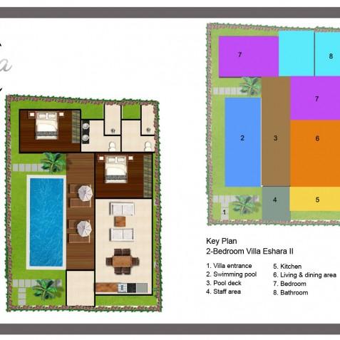 Villa Eshara II - Floor Plan - Seminyak, Bali