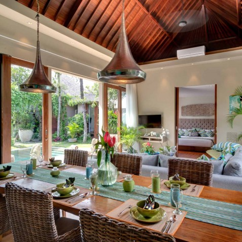 Villa Eshara II - Indoor Dining - Seminyak, Bali
