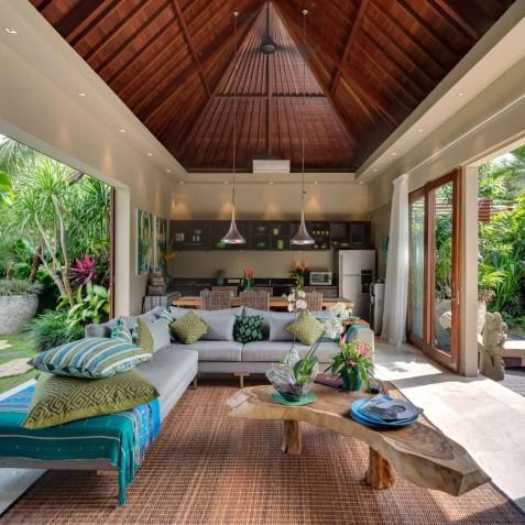 Villa Eshara II - Open Living Area - Seminyak, Bali