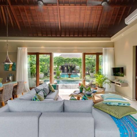Villa Eshara II - View Through Villa - Seminyak, Bali