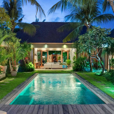 Villa Eshara III - Pool and Villa at Night - Seminyak, Bali