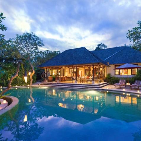 Villa Frangipani Bali - Villa at Dusk - Canggu, Bali