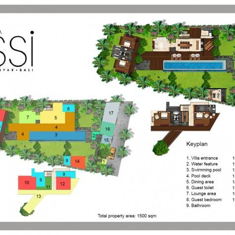 Villa Issi - Floor Plan - Seminyak, Bali