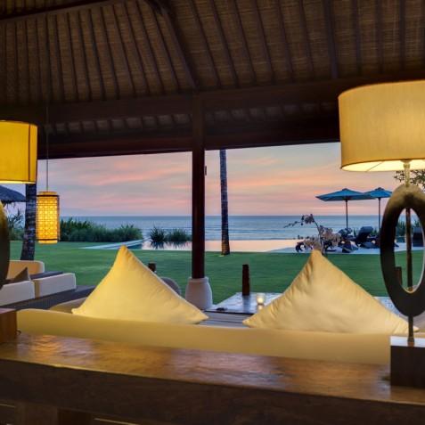 Villa Jagaditha Bali - Living Area at Sunset - Canggu, Bali
