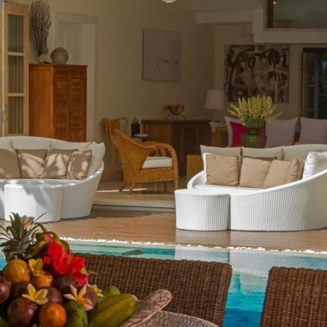 Villa Jajaliluna - Lounge from Dining Room - Seminyak, Bali