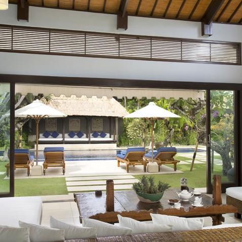 Villa Jemma - Living Area Pool View - Seminyak, Bali