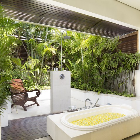 Villa Jemma - Tropical Bathroom - Seminyak, Bali