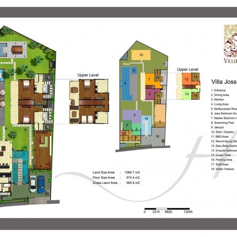 Villa Joss - Floor Plan - Seminyak, Bali