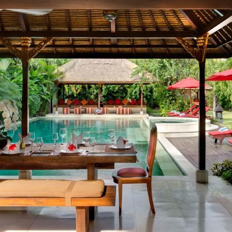 Villa Kalimaya I - Dining and Lounge Pavilions - Seminyak, Bali