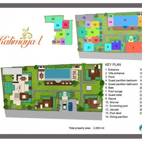 Villa Kalimaya I - Floor Plan - Seminyak, Bali