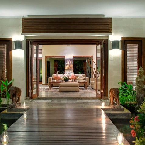 Villa Kalimaya I - View to Living Room - Seminyak, Bali