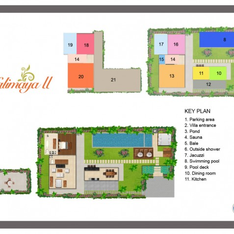 Villa Kalimaya II - Floor Plan - Seminyak, Bali