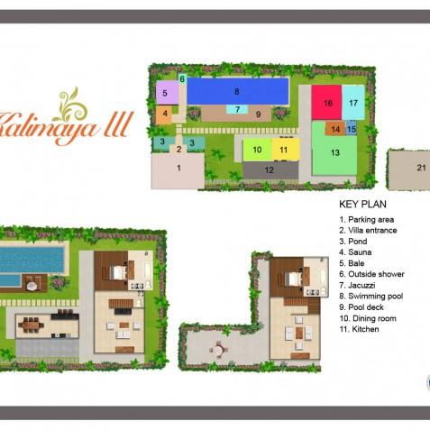 Villa Kalimaya III - Floor Plan - Seminyak, Bali