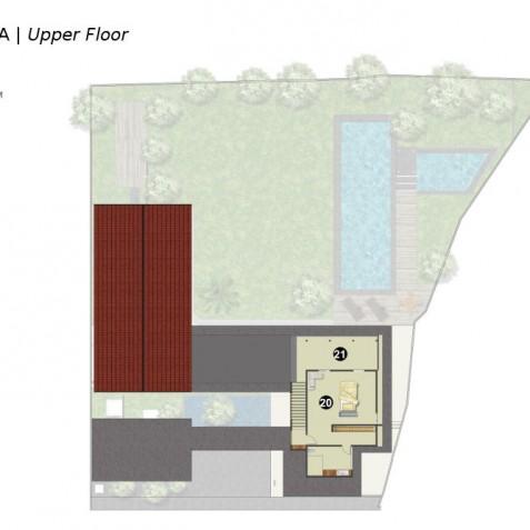 Villa Kavya Bali - Upper Floor Plan - Canggu, Bali