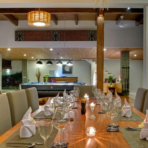 Villa Kinara - Dining Area Evening - Seminyak, Bali