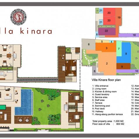 Villa Kinara - Floor Plan - Seminyak, Bali