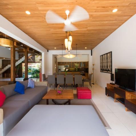 Villa Kinara - Living, Dining & Kitchen - Seminyak, Bali