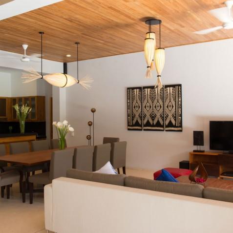 Villa Kinara - Living Room with TV - Seminyak, Bali