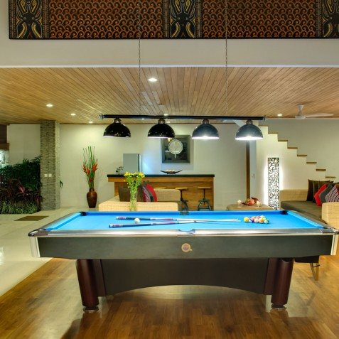 Villa Kinara Bali - Pool Table at Night - Seminyak, Bali
