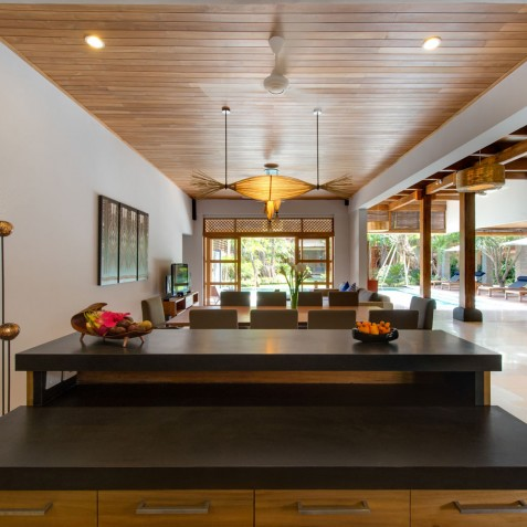 Villa Kinara - View from Kitchen - Seminyak, Bali
