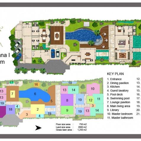 Villa Lataliana I - Floor Plan - Seminyak, Bali