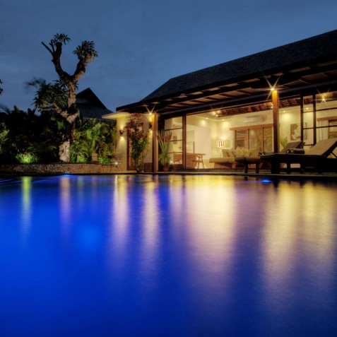 Villa Lataliana II - Evening Pool View - Seminyak, Bali