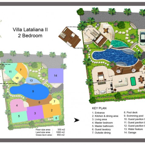 Villa Lataliana II - Floor Plan - Seminyak, Bali