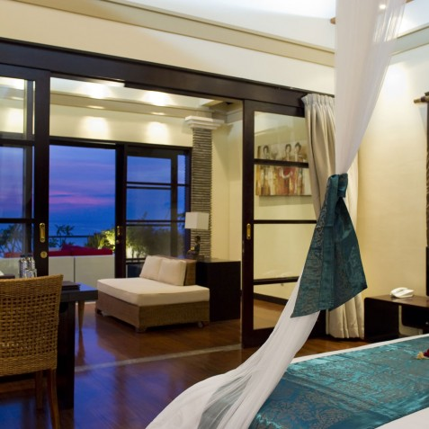 Villa LeGa Bali - Master Bedroom at Night - Seminyak, Bali