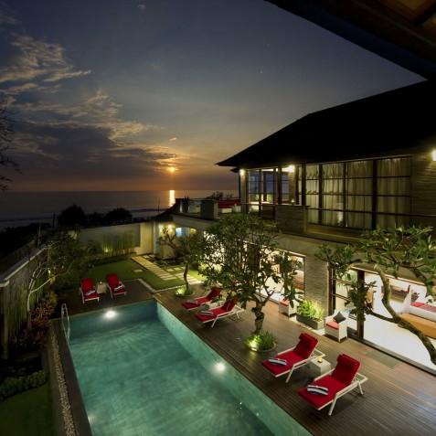 Villa LeGa Bali - Sunset View from Master Bedroom - Seminyak, Bali