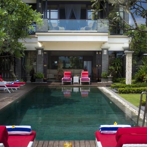 Villa LeGa Bali - View of Second Master Bedroom from Pool - Seminyak, Bali