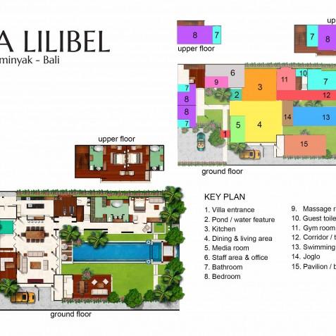 Villa Lilibel Bali - Floor Plan - Seminyak, Bali