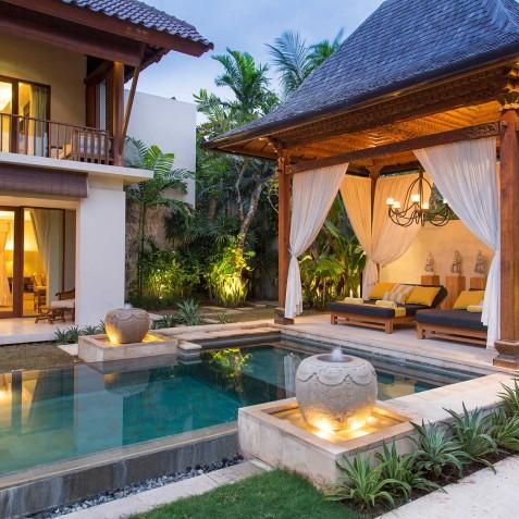 Villa Lilibel Bali - Pool and Bale in Evening - Seminyak, Bali