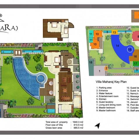 Villa Maharaj - Floor Plan - Seminyak, Bali
