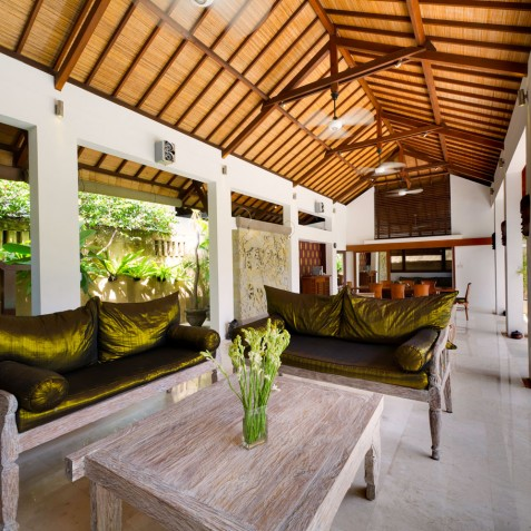 Villa Maharaj - Living Room - Seminyak, Bali
