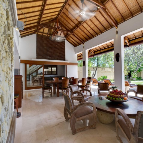 Villa Maharaj - Living and Dining Area - Seminyak, Bali
