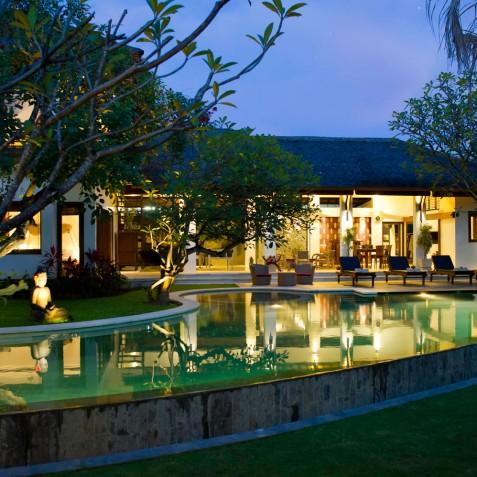 Villa Maharaj - Villa at Dusk - Seminyak, Bali