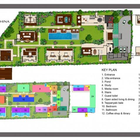 Villa Malaathina Bali - Floor Plan - Seminyak, Bali