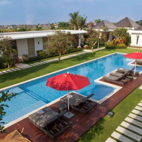 Villa Malaathina Bali - View over Pool - Umalas Bali