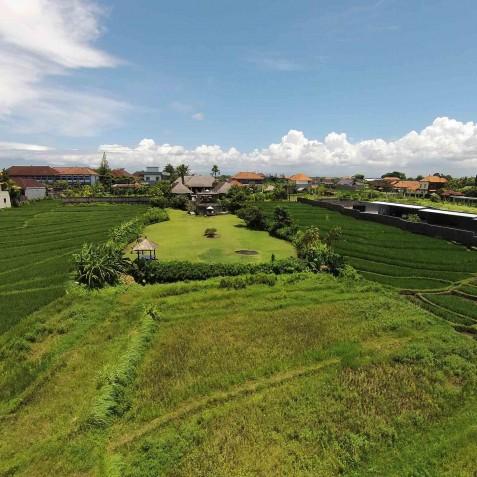 Villa Mandalay Bali - Aerial View of Villa - Seseh-Tanah Lot