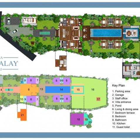 Villa Mandalay Bali - Floor Plan - Seseh-Tanah Lot