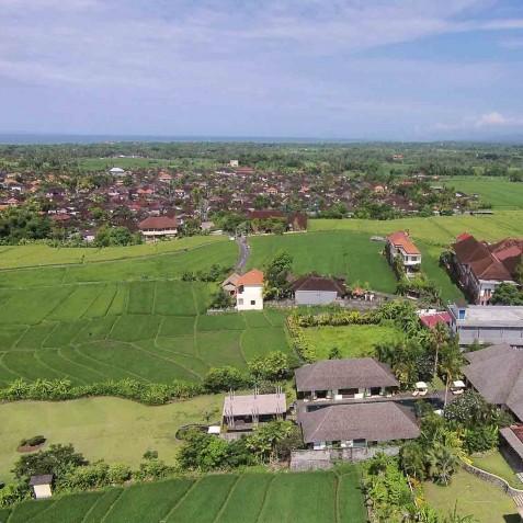 Villa Mandalay Bali - Aerial View - Seseh-Tanah Lot