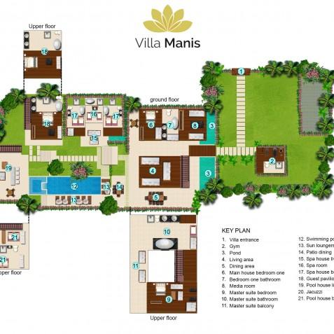 Villa Manis Bali - Floor Plan - Canggu, Bali